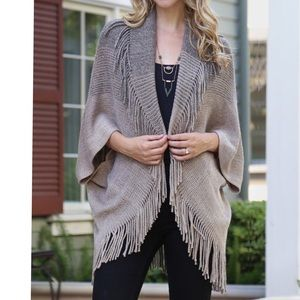Ribbed Fringe Cardigan - 2 Available Colors NWT